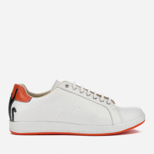 PS by Paul Smith Women's Lapin Leather Court Trainers - White: Image 1