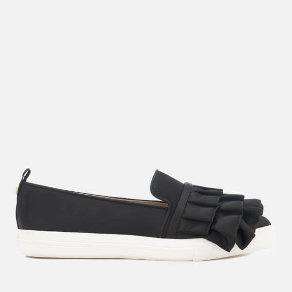 Miss KG Women's Livia Satin Ruffle Slip-On Trainers - Black