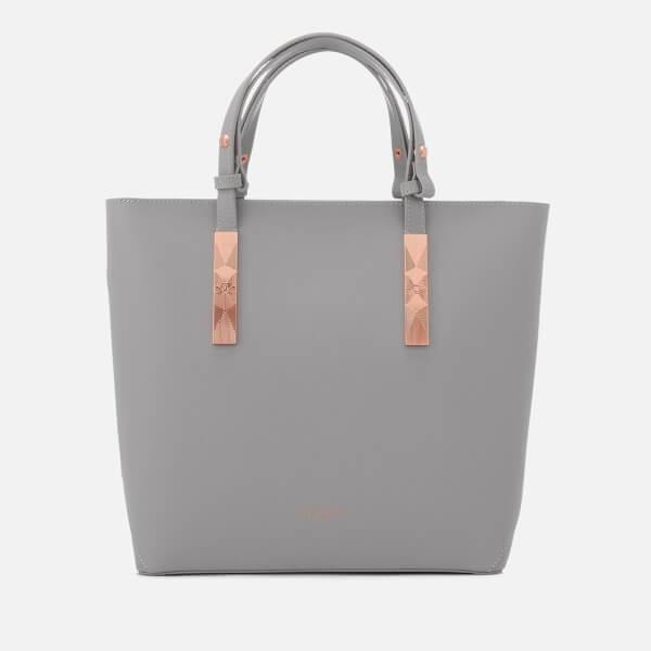 Ted Baker Women's Jacey Adjustable Handle Zip Shopper Bag - Light Grey