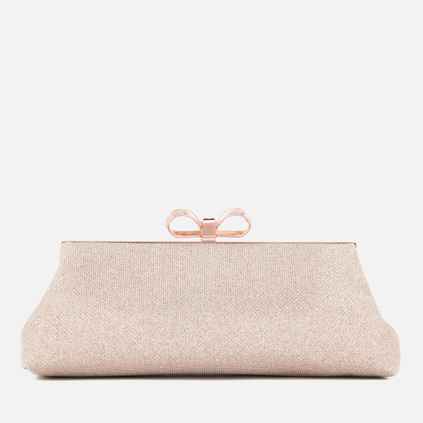 a919a350758f Ted Baker Women s Glitter Bow Evening Bag - Rose Gold  Image 1