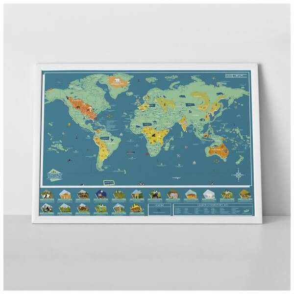 Scratch Map - Wild World Animal Edition