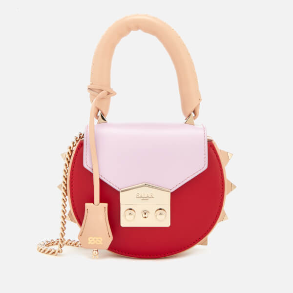 SALAR Women's Mimi Mini Multi Cross Body Bag - Cream/Lilac/Red
