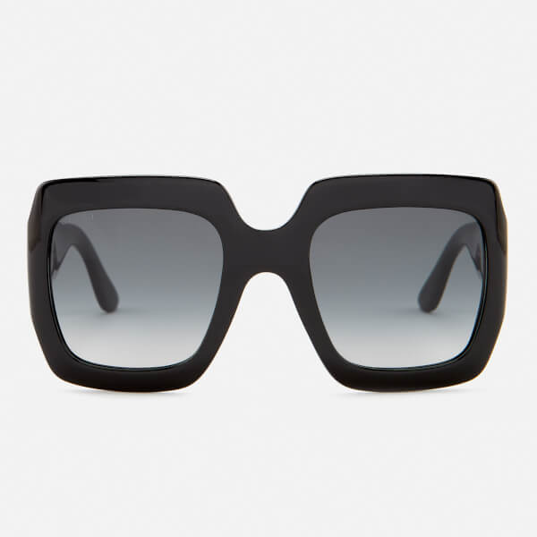 Gucci Women's Large Square Frame Sunglasses - Black/Grey
