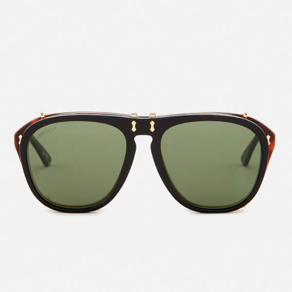 Gucci Men's Aviator Sunglasses - Green/Brown