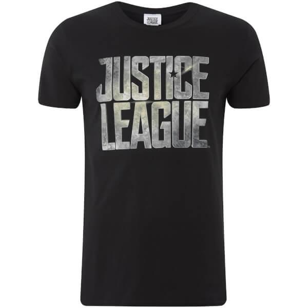 DC Comics Men's Justice League Logo T-Shirt - Black