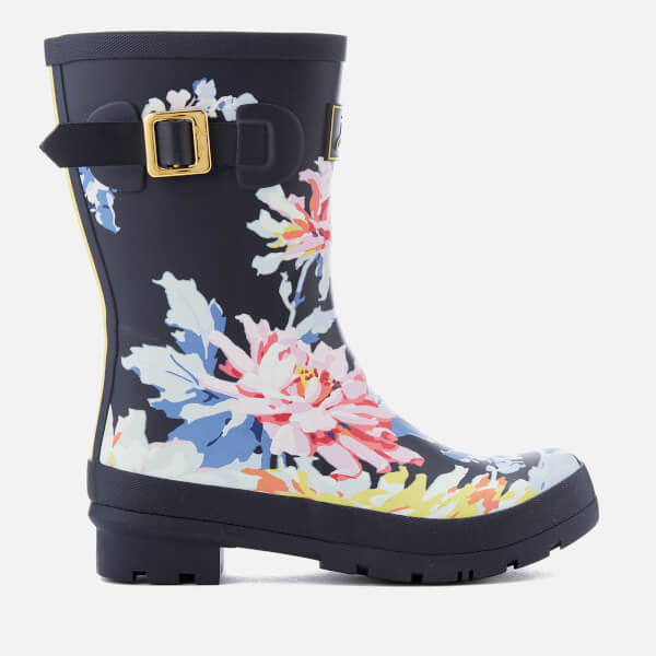 Joules Women's Molly Short Wellies - Navy Whitstable Floral