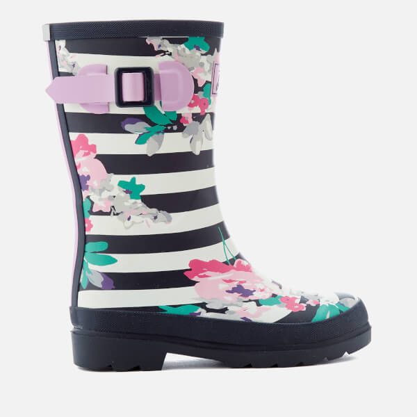 Joules Kids' Stripe Wellies - Margate Floral