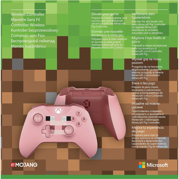 xbox wireless controller minecraft pig games accessories. Black Bedroom Furniture Sets. Home Design Ideas