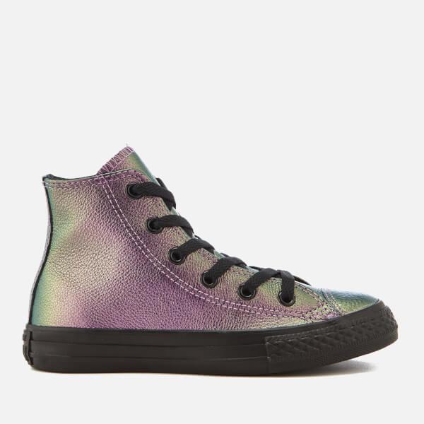 36ad13e960b74e ... ireland converse kids chuck taylor all star hi top trainers violet  black black free uk delivery