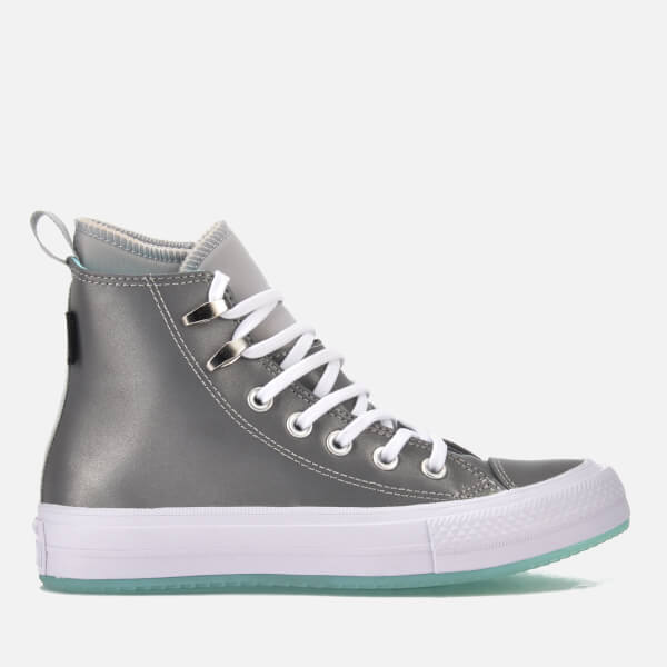 63f17d1e942 Converse Women s Chuck Taylor All Star Waterproof Boots - Pure  Platinum Light Aqua White
