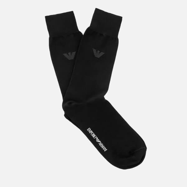 Emporio Armani Men s Filoscozia Cotton Socks - Nero - Free UK Delivery over  £50 396f830c302