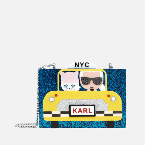 Karl Lagerfeld Women's NYC Taxi Minaudiere Bag - Navy
