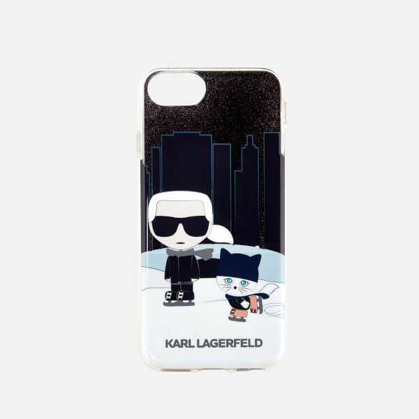 Karl Lagerfeld Women's Karl and Choupette NYC Phone Case - Black