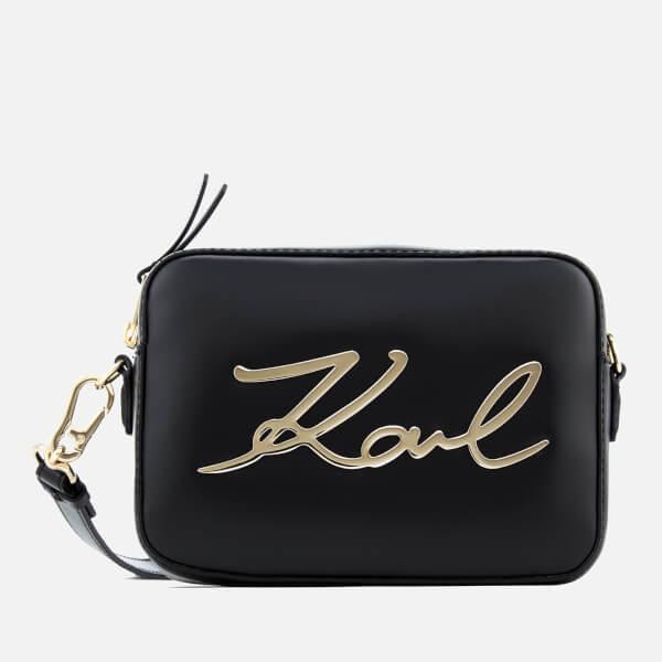 Karl Lagerfeld Women's Signature Camera Bag - Black