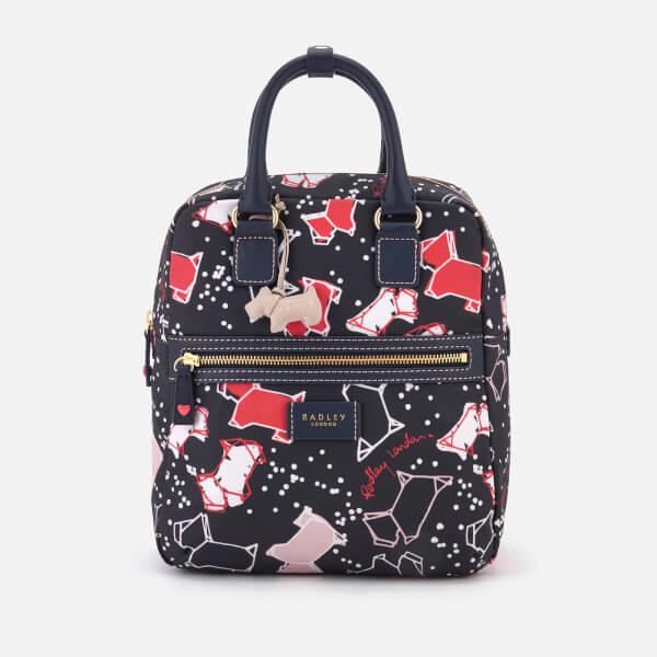 Radley Women's Speckle Dog Medium Zip-Top Backpack - Ink