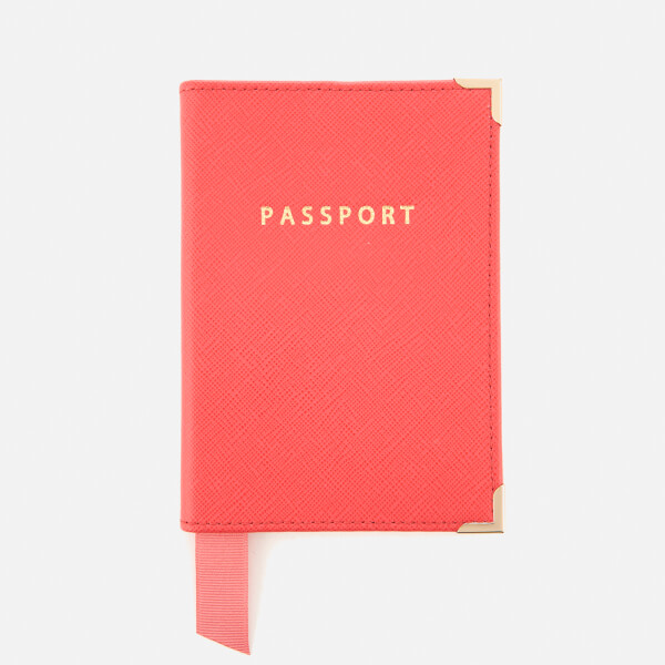 Aspinal of London Women's Passport Cover - Dahlia