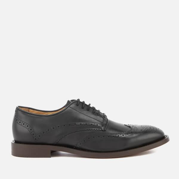 Hudson London Men's Whitman Hi Shine Leather Brogues - Black
