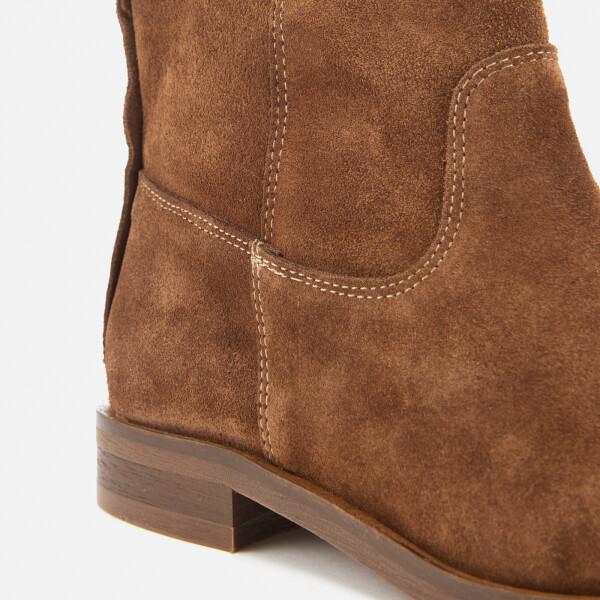 f395d1e2160e0 Hudson London Women s Odina Suede Flat Boots - Tan Womens Footwear ...