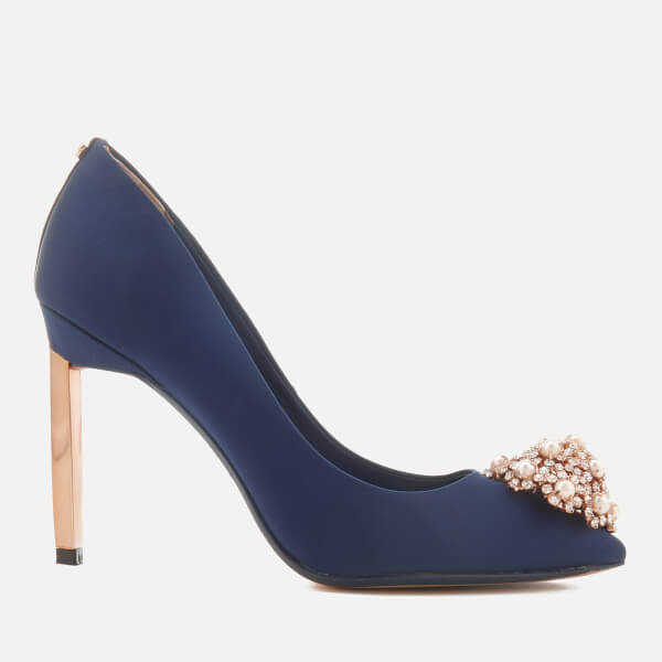 Ted Baker Women s Peetch 2 Court Shoes - Navy Satin  Image 1 8f6e2bdd381c