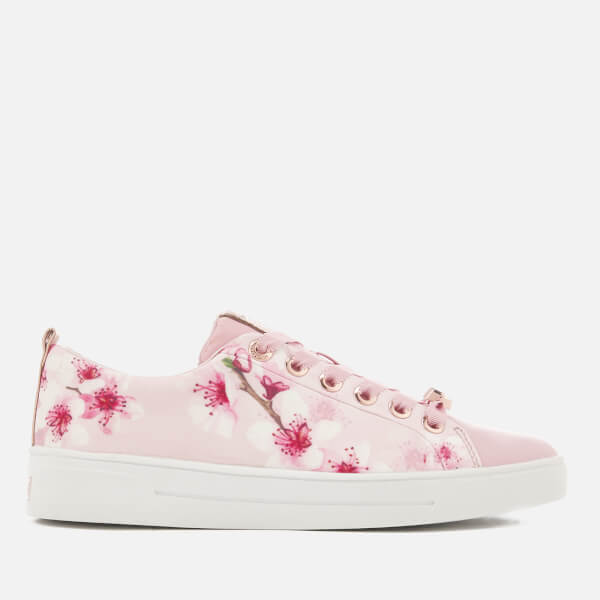 311e527d53b8ae Ted Baker Women s Ahfira Cupsole Trainers - Blossom Print Pink  Image 1