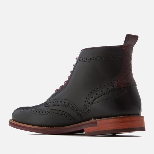 b74dec316b2c Ted Baker Men s Hjenno Leather Lace Up Boots - Black  Image 4