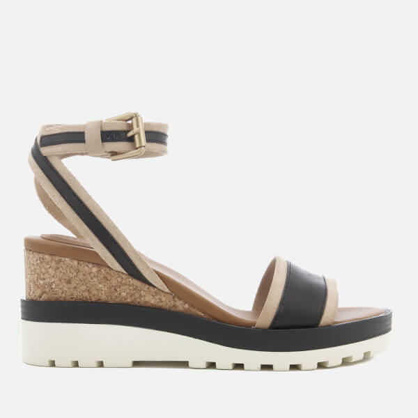 Chloé Women's Suede Wedged Sandals - - UK 6 tshaui