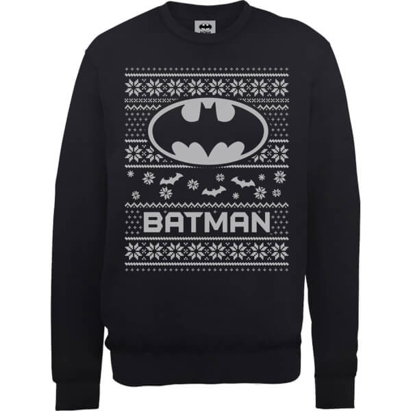 DC Comics Originals Batman Knit Black Christmas Sweatshirt