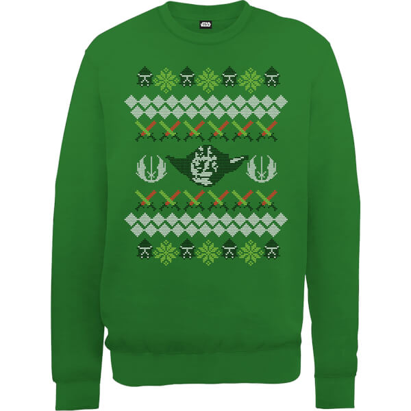 Star Wars Yoda Christmas Knit Green Christmas Sweatshirt