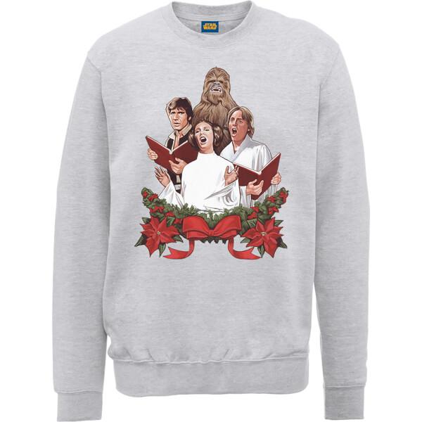 Star Wars Jedi Carols Grey Christmas Sweatshirt
