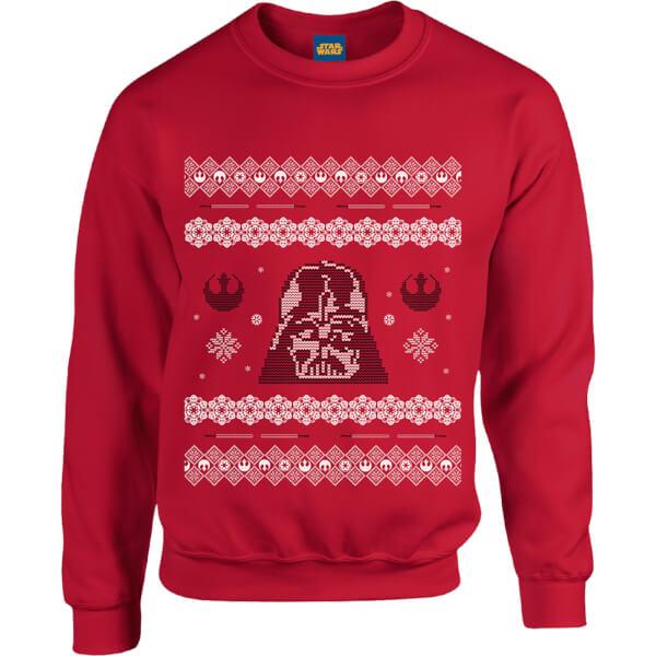 Star Wars Darth Vader Christmas Knit Red Christmas Sweatshirt