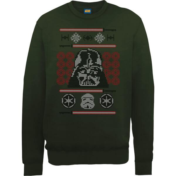 Star Wars Darth Vader Face Knit Green Christmas Sweatshirt