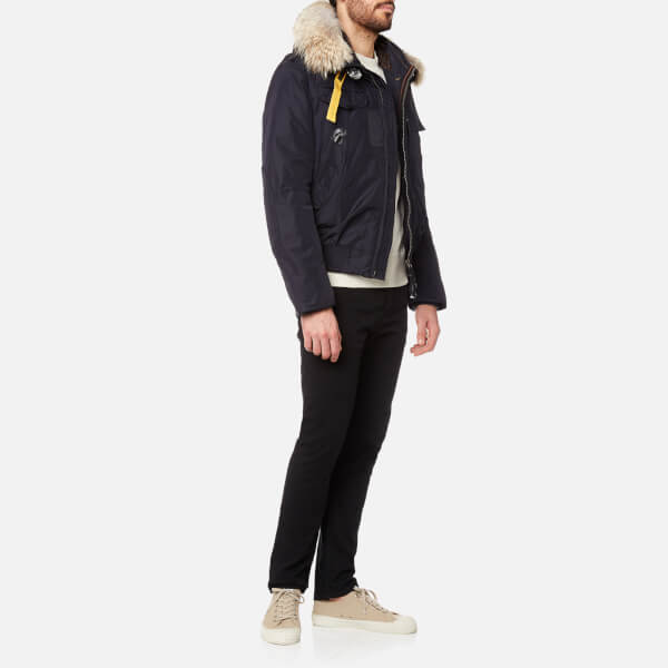 Parajumpers Men's Gobi Faux Fur Bomber Jacket - Navy: Image 3