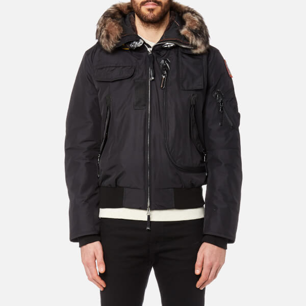 Parajumpers Men's Gobi Faux Fur Bomber Jacket - Black: Image 1