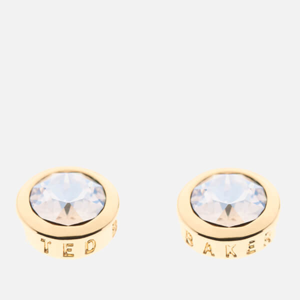 Ted Baker Women's Sinaa: Swarovski Crystal Stud Earrings - Gold/Crystal: Image 1