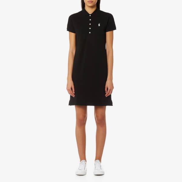 Polo Ralph Lauren Womens Stretch Mesh Polo Dress Black Free Uk
