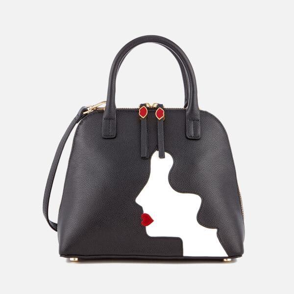 Lulu Guinness Women's Bobbi Kissing Cameo Shoulder Bag - Black
