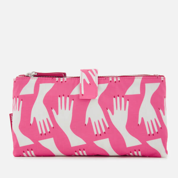 Lulu Guinness Women's Hug Print Double Make Up Bag - Peony