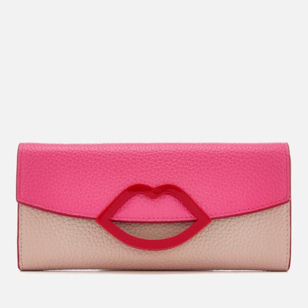 Lulu Guinness Women's Trisha Colour Block Wallet - Peony/Nude Rose