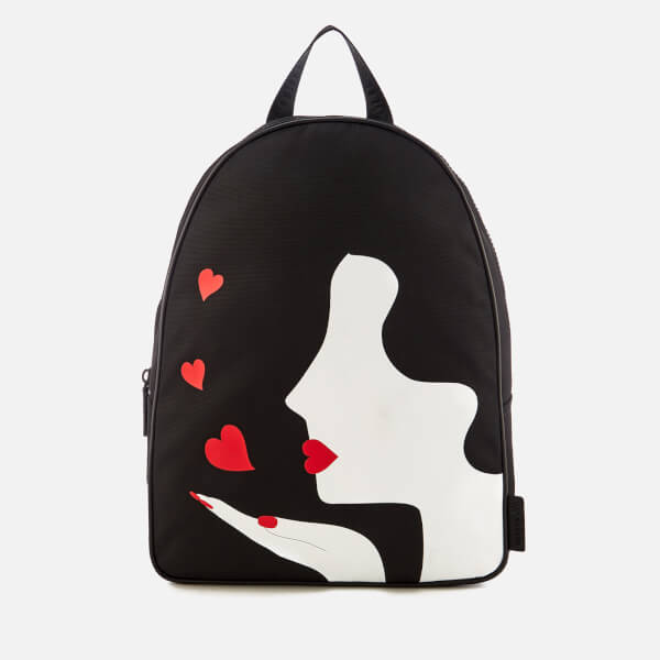 Lulu Guinness Women's Kissing Cameo Backpack - Black