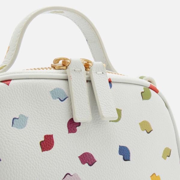 1ca7ec0ce3 Lulu Guinness Women s Henrietta Confetti Lip Print Tote Bag - Pale  Grey Multi  Image