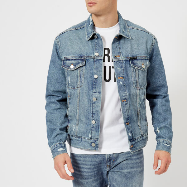 Classic Clothing Men's Vintage Jacket Calvin Klein Denim Trucker RpOxO1
