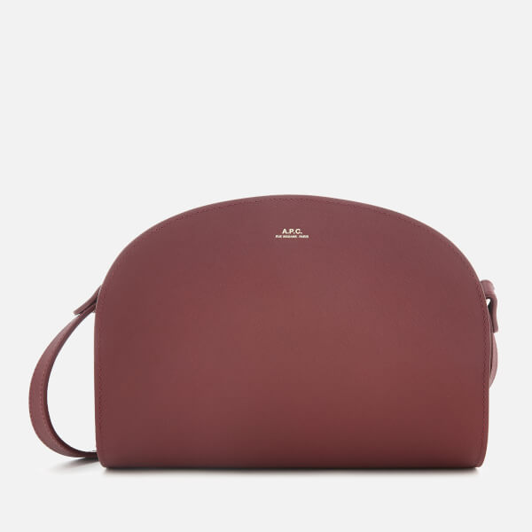 A.P.C. Women's Demi-Lune Cross Body Bag - Wine