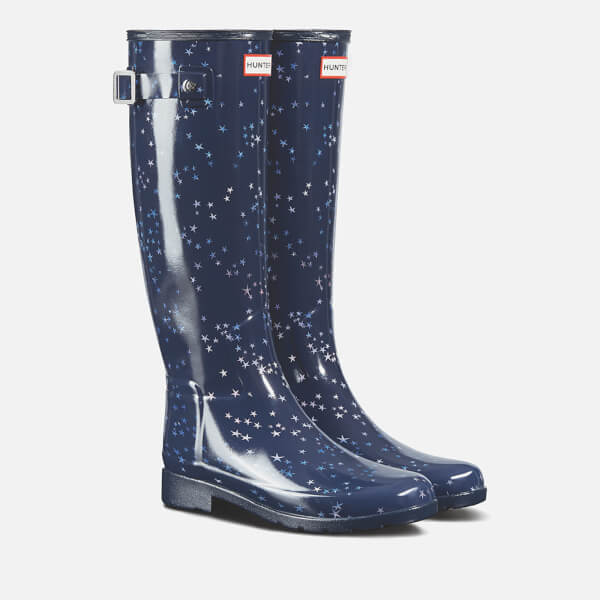 eeb4a1148be Hunter Women s Refined Constellation Print Tall Wellies - Midnight  Image 2