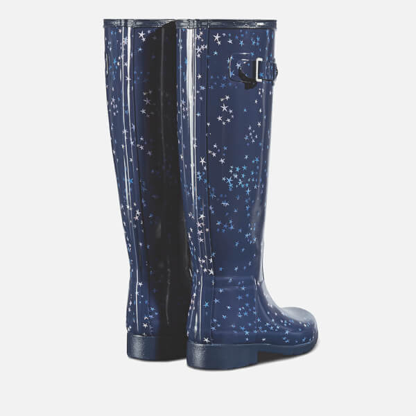 Hunter Women's Refined Constellation Print Tall Wellies - Midnight - UK 3 pctzZGnr