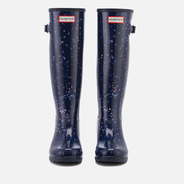 00ab0a0edda Hunter Women s Refined Constellation Print Tall Wellies - Midnight  Image 4