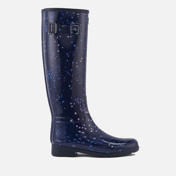 Hunter Women's Refined Constellation Print Tall Wellies - Midnight - UK 3 q5sSE
