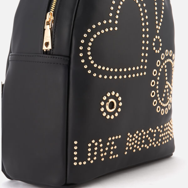 638a808ae8dd Love Moschino Women s Studded Logo Backpack - Black  Image 4