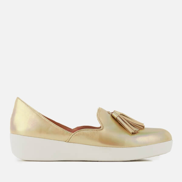 3f954787fa6 FitFlop Women s Tassel Superskate D Orsay Loafers - Gold Iridescent  Image 1