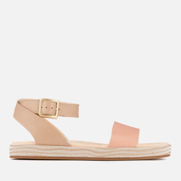 027473978e3 Clarks Women s Botanic Ivy Double Strap Flat Sandals - Sand Combi ...