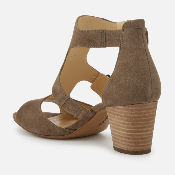 a0ba8968c714c Clarks Women s Deloria Kay Suede Block Heeled Sandals - Olive  Image 3